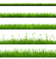 grass borders big set vector image