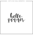Hello summer Time of year Calligraphy phrase in