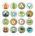 Hiking and outdoor icon set vector image vector image