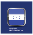 honduras glossy button independence day background vector image vector image
