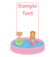 kids in the swimming pool vector image vector image