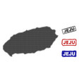 korean jeju island map in halftone dot style with vector image vector image