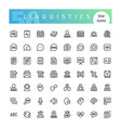 linguistics line icons set vector image vector image