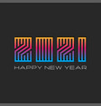 logo 2021 gradient trendy monogram happy new year vector image vector image