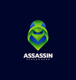 logo assassin gradient colorful style vector image