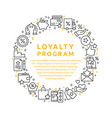 loyalty program vector image vector image