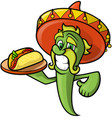mexican green chili pepper vector image