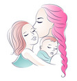 mother and children mom and daughters mothers vector image