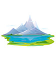mountain lake travel vector image vector image