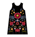 poppy embroidery dress
