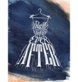 Poster wedding dress blue vector image vector image