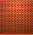 red background with hexagons vector image vector image