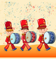 red drummers concept background cartoon style vector image vector image