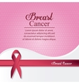 ribbon breast cancer design vector image