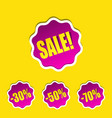 sale sticker discount label shop 30 50 70 vector image