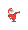 Santa Claus Father Christmas Thumbs Up Cartoon vector image vector image