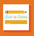 school pencil and rule supplies isolated icon vector image vector image