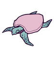 sea turtle stylized vector image vector image