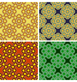 seamless octagon pattern set vector image vector image