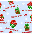 seamless pattern with cartoon christmas vector image vector image