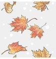 seamless texture autumn leaves vector image vector image