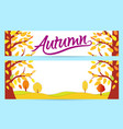 set bright autumn banners gold autumn forest vector image
