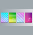 set colorful gradient cover with lines for vector image vector image