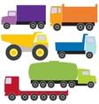 set trucks vector image