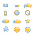 Shiny web icons vector image vector image