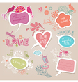 Speech bubbles set love vector | Price: 1 Credit (USD $1)