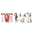 stylized characters set for animation vector image vector image