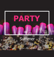 summer party with ultra violet ice creams vector image vector image