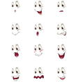 various faces vector image vector image