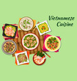Vietnamese cuisine oriental dishes icon vector image vector image