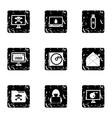 Viruses icons set grunge style vector image vector image