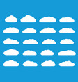 white flat clouds vector image vector image