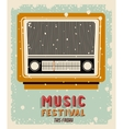old radio poster isolated icon design vector image