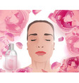 rose water face pack vector image