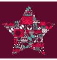 Dj Music icons star vector image