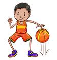 A basketball player vector image vector image