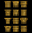 ancient architecture column vector image