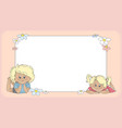 Background with children template for card vector image vector image