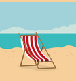 beach landscape with chair scene vector image vector image