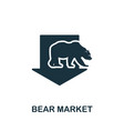 bear market icon creative element design from vector image