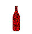 Beverage bottle with hearts vector image