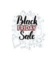 Black Friday Sale with Doodles vector image vector image
