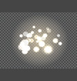 blurred glittering sparkling elements on black vector image