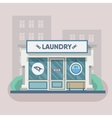 Building laundry flat design Washing mashine vector image vector image