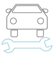Car Repair Outline Icon vector image vector image