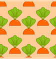 carrot grow seamless pattern vegetable on garden vector image